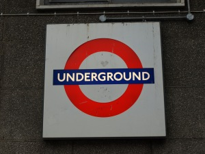 "The London Underground. A cooler logo and name than NYC's ""subway."""