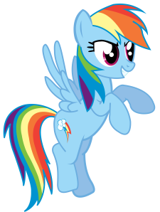 Rainbow Dash thinks she's REALLY overdoing it.